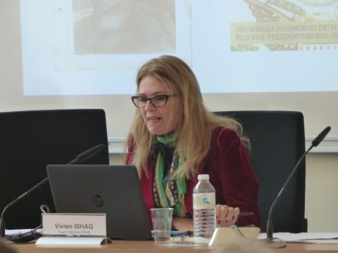 Colloque IHEAL Archives et justice transitionnelle : Vivien Ishaq, coordinatrice exécutive du rapport de la CNV, directrice de l'Unité de Brasilia